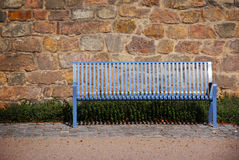 Banc bleu Photo libre de droits