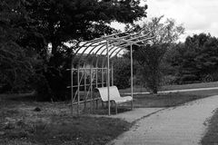 Banc chez Campbell Park Photo stock