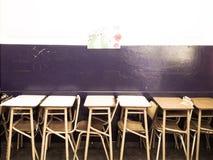 Banc d'école photos libres de droits
