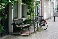 Banc d'Amsterdam Images stock