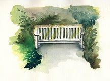 Banc d'aquarelle Image stock