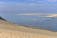 Banc d'Arguin vu de la dune de Pilat Photo libre de droits