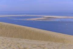 Banc d'Arguin vu de la dune de Pilat Images stock