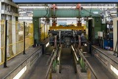 Banc d'essai pour le chariot révisé de rail Image libre de droits