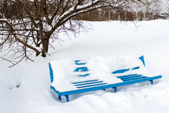 Banc d'hiver Images stock