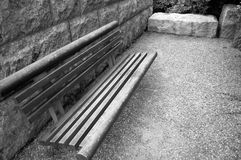 Banc dans l'attente? Photo libre de droits