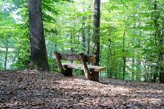 Banc dans les bois Image libre de droits