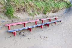 Banc de Ballybunion couvert en sable images stock