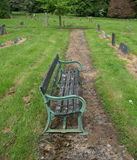 Banc de cimetière Images stock
