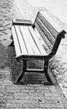 Banc de l'hiver Photographie stock
