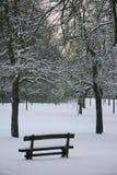 Banc de l'hiver photos libres de droits