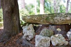 Banc de la roche de la nature Image stock