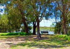 Banc de méditation : Marécages d'Australie occidentale Photo libre de droits