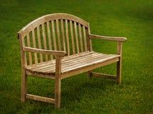 Banc de parc en bois Images libres de droits