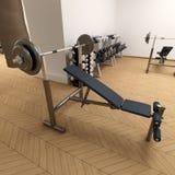Banc de poids à la gymnastique Photographie stock libre de droits