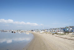 Banc de sable de Mudeford, dorest Photo libre de droits