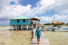 Banc de sable de tabac à Belize photographie stock