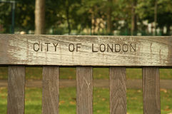 Banc de stationnement de Londres Photo stock