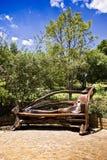 Banc de stationnement en bois photo libre de droits