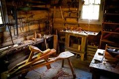Banc de travail en bois Photos libres de droits
