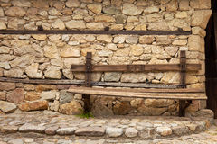 Banc de village Photographie stock libre de droits