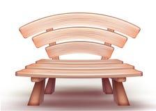 Banc en bois de vecteur Image libre de droits