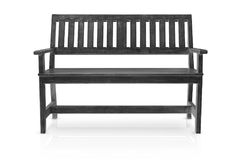 Banc en bois noir ou longue coupe de fauteuil d'isolement Photos stock