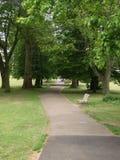 Banc en parc à Londres Images libres de droits