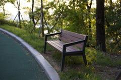 Banc en parc Photo libre de droits