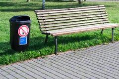 Banc en parc Photographie stock
