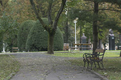 Banc en parc Photo stock