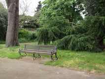 Banc en parc Londres Image libre de droits