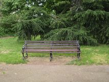 Banc en parc Londres Images libres de droits