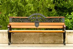 Banc en stationnement Photos stock