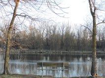 Banc et lac Images stock