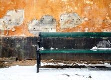 Banc et mur Images libres de droits