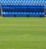 Banc pour des réservations du football Images stock