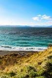 Banc près de la mer Photographie stock libre de droits