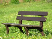 Banc sur l'herbe Photo stock