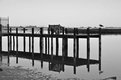 Banc sur le dock Photo stock