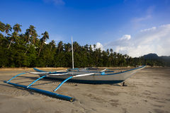 Banca boat on the beach Royalty Free Stock Photography