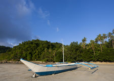Banca boat at rest Stock Photos