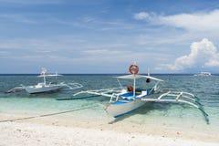 Banca boats, Bohol - Philippines. Stock Image