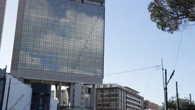 Banca Carige reklamowy znak Genua Brignole zbiory wideo