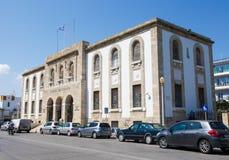 Banca centrale della Grecia sull'isola di Rodi, Grecia Immagini Stock