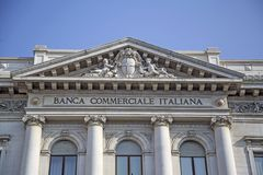 Banca Commerciale Italiana in Milan Royalty Free Stock Image