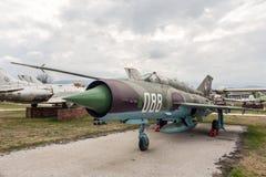Banca dei Regolamenti Internazionali Fishbed N Jet Fighter di MIG 21 Fotografie Stock
