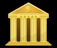 Banca dell'oro Fotografia Stock Libera da Diritti