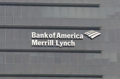 Banca di America Merrill Lynch fotografia stock