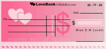 Banca di amore Fotografia Stock